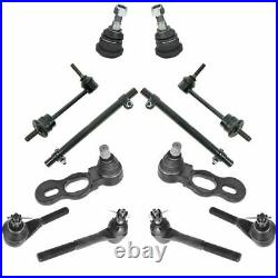 12 Piece Steering & Suspension Kit Ball Joints Tie Rods Sway Bar End Links New