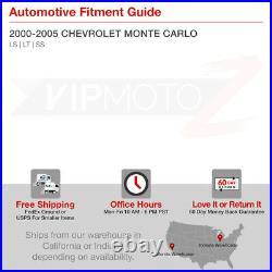 2000-2005 Chevrolet Monte Carlo LS LT SS Black LH+RH Headlights Assembly V6