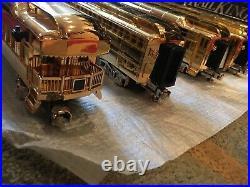 2000 Mth Millenuim Gold Plated Gg1 Engine & (5) Car'70 Madison Passenger Set