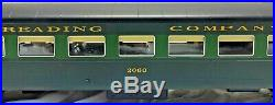 2-Rail O Gauge SGL Reading Brass Turtleback Blimp 5 Passenger Car Set