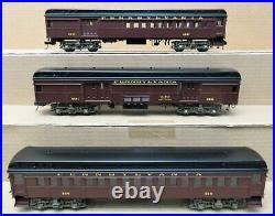 3rd Rail B2 Brass PRR P54 Commuter Cars 3-Car Heavyweight Passenger Set O-Gauge