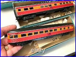 ATHEARN-HO-SOUTHERN PACIFIC DAYLIGHT PASSENGER CARS-BOXED-USED-Set of 6