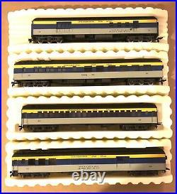 Ahm Ho Chesapeake & Ohio Passenger 4 Car Set 6203-6206 Ob