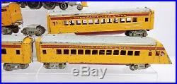 American Flyer Prewar Hiawatha Steam liner Passenger Car Set O Scale