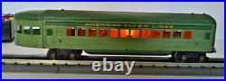 American Flyer Prewar Hudson Green Streamliner #1773 Passenger Car Set O Gauge