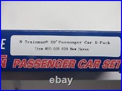 Atlas-N NEW HAVEN 60' Passenger Car Set 5-Pack (50003829) NIB