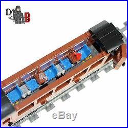 Custom City train Emerald Night passenger carriage car made using LEGO parts