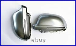 For Audi A5 S5 B8 Alloy Matt Wing Mirror Door Caps Cover Trim Case Housing 07