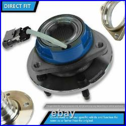 Front Wheel Hub & Bearing with Sensor Pair Set for Ford Mercury with ABS