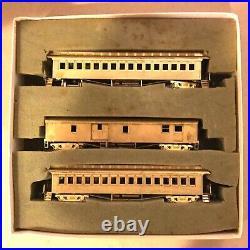 Gem Models HO Brass Class SH-111S MA&PA PASSENGER 3 CAR SET UNPAINTED OB