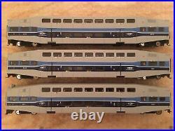 HO Athearn AMT Bombardier Passenger Car Set 2 Coaches/ One Control Car RARE