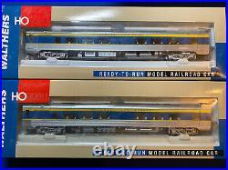 HO Delaware & Hudson Passenger set, Atlas Locomotive, Walther Passenger Cars