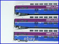 HO Scale Athearn 2590 ACE Altamont Commuter Bombardier Coach Passenger Car Set
