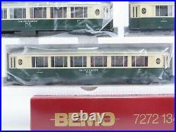 HOm Gauge Bemo 7272 134 RhB Saloon Wagon 4-Car Passenger Set