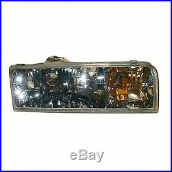 Headlights Headlamps Composite Pair Set for 95-97 Lincoln Town Car