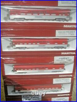 Ho Mantua Passenger 7 Car Set With Interiors And Lighted Golden State Limited