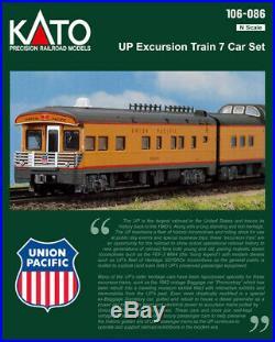 KATO 106086 N Union Pacific 7 Passenger Car Excursion Train Set 106-086