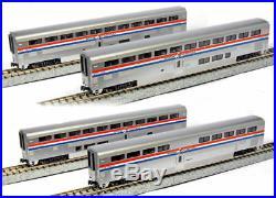 KATO 1063517 N Scale Amtrak Superliner Phase III 4 Passenger Car Set A 106-3517