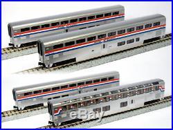 KATO 1063518 N Scale Amtrak Superliner 4 Passenger Car Set B Phase III 106-3518