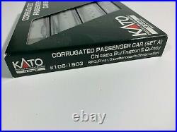 KATO N 106-1503 Chicago, Burlington & Quincy 4 Car Passenger Set A