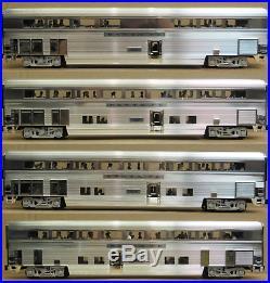 K-Line 18 Santa Fe Bi-Level 4-Car Passenger Car Set ALUMINUM O-Gauge NIB RARE