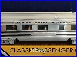 K Line 6-21594 4 Car NYC Empire State Passenger Express 15 Aluminum Set O gauge