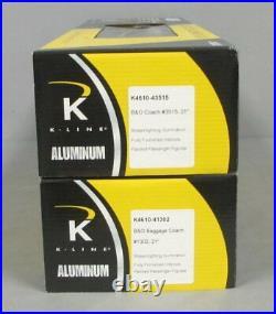 K-Line K4610E Baltimore & Ohio Aluminum 21 Passenger Car Set (Pack of 2) LN/Box