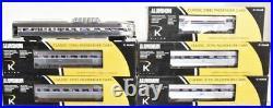 K-line By Lionel Aluminum Amtrak 21 Passenger Coach 6 Car Set! O Scale Train