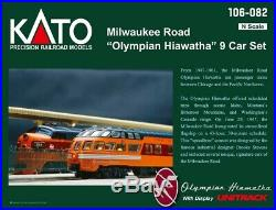 Kato 106082 Olympian Hiawatha 9-Car Passenger Set Milwaukee Road N Scale