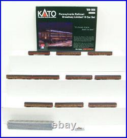 Kato 106-068 Pennsylvania Broadway Limited 10-Car Passenger Set LN/Box