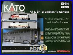 Kato 106-084 El Capitan + F7A/B AT&SF Santa Fe 10 Car Passenger Set New