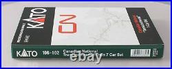 Kato 106-102 N Canadian National Transcontinental Passenger Car Set (Set of 7)