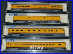 Kato-#106-1102 N-Scale 4 car Union Pacific Smoothside Passenger car (Set B)