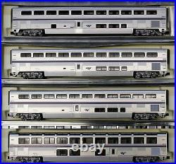Kato N Scale Amtrak Passenger Car Superliner Phase IVB Set B 4 Pcs 106-3516