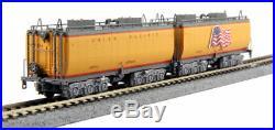 Kato N Scale Union Pacific # 844 + 2 Car Tender Set + 108086 7 Car Passenger Set