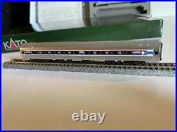 Kato N-scale Train Amfleet Amtrak Phase 1, Passengers 6 Car Set withBox