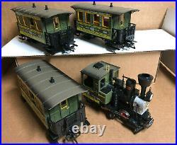 LGB 20533 Green Schweiger Set Stainz locomotive & 3 passenger cars with box
