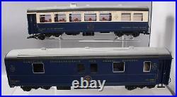 LGB 39680 Orient Express Passenger 2-Car Set Metal Wheels EX/Box