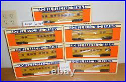 Lionel 16068 16074 Union Pacific Streamlined Passenger 7 Car Train Set O Gauge