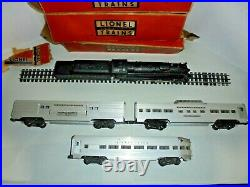 Lionel 2222w Postwar Passenger Train Set With Aluminum Cars, Engine, Tender 1954