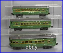 Lionel 2400S Vintage O Green/Gray Passenger Car Set 2400, 2401, 2402 EX/Box