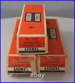 Lionel 2421S Vintage O Lionel Lines 2421, 2422, 2423 3-Car Passenger Set/Box