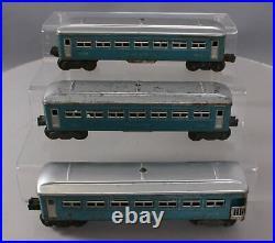 Lionel 2430S Vintage O Blue & Silver Tinplate Passenger Car Set 2430 2430 2431