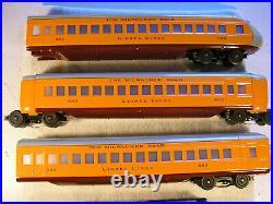 Lionel 51000 Hiawatha Set, 350E MILW 4-4-2, 882, 883, 884 Passenger Cars, C7