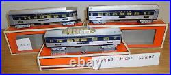 Lionel 6-35222 -24 Wabash Bluebird Streamliner Passenger 3 Car Set Train O Gauge