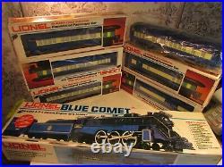 Lionel 8801 Blue Comet Passenger set, Loco and Tender plus 6 Passenger Cars