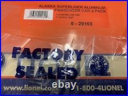 Lionel Aluminum Alaska Railroad Superliner 2 Car 18 Passenger Set 6-29169
