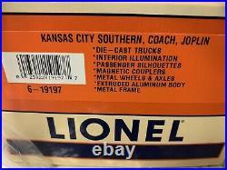 Lionel Aluminum Kansas City Southern 4 Car Streamlined Passenger Set 6-19194 Kcs