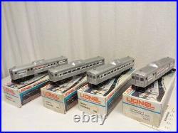 Lionel Amtrak 4 Car Budd Commuter Passenger Set 6-8868 6-8869 6-8870 7-8871