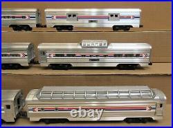 Lionel Amtrak 6-Car Aluminum Passenger Set O Gauge USED